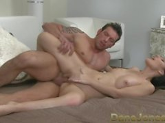 DaneJones Hot brunette with great tits fucked in all positions