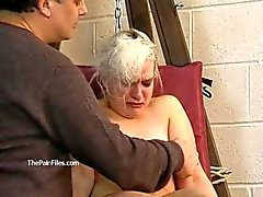 Tied blonde slaveslut Chaos tortured to tears and hot wax punished sub