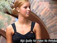 jessi gorgeous beautiful teen masturbates outdoors on stairs