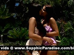 Henessy and Venus hot brunette lesbos kissing and licking pussy and having lesbo sex