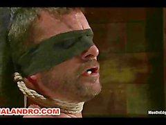 Mr Morgan Black is Taken, Beaten, Edged and Milked
