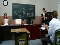 Horny teacher Ava Adams gives her lucky student a break form his exam for a hardcore fucking