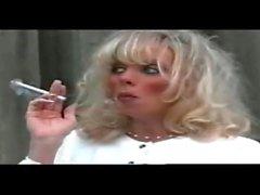 pregnant white trash whore smoking VS120S part 2