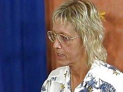 Flirty Blonde Mature Teacher Ham...