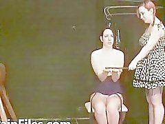 Submissive Lyarah facial candle waxing and lesbian