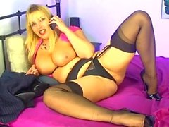 S66 Lucy Gresty Stockings, Heels And Tits