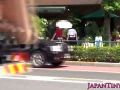 Petite giapponese negozio di fiori ragazza la figa pelosa scopare