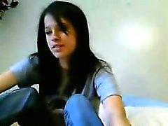 Tiras de adolescencia pechugonas atractivas y obras de en su webcam