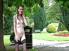 Granny flashing and mature Brazen public nude