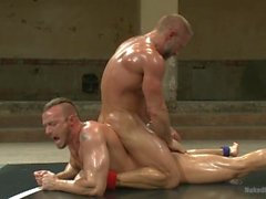 Two Ripped Studs Wrestling For Sexual Domination - Scene 1