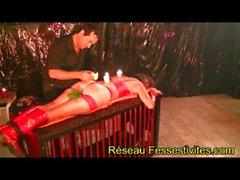 BDSM PUR ET DUR fess&eacute_e canne orties bougie brosse & a grave_ pointe