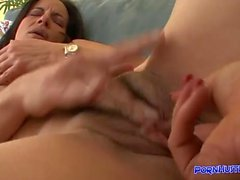 She Eats Her StepMoms Hairy Muff