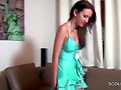 German Step-Sister helps her Brother to Cum when home alone