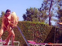 Big Tits Blonde Fucked Silly By Pool