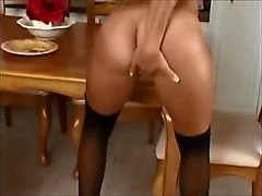 Fingerfucking her Shaved Pussy