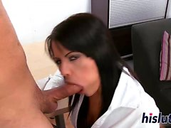 Busty teacher gets rammed by her horny student