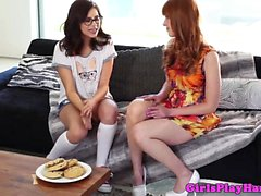 Gorgeous nerd lesbian spoiled by married unfaithful ginger