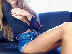 Sexy bambina esibisce Corporatura cam in diretta - leakedcamgirls
