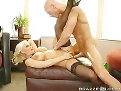 big titted blonde Diamond Foxxx fucked hard by a large cock