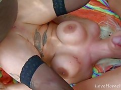 Fairy Tale Gets Wicked For Tattooed Blonde.mp4