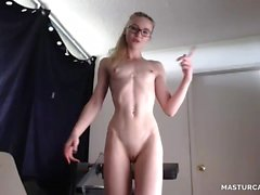 Adorable Skinny Loves To Show Off On Webcam