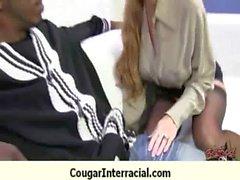 Cougar scopata profondità da mostro di cazzo nero a 3