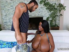 Giant tits and phat ass of ebony bbw Maserati XXX