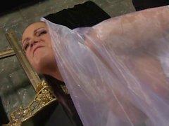 Crying bride gets hard bang by a horny stud