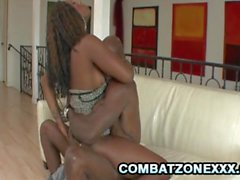 Natalie Evans and Coffee Brown - Black On Ebony ThreeSome