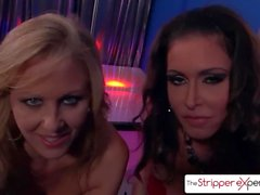 The Stripper Experience - Jessica Jaymes & Julia Ann sucking a monster cock