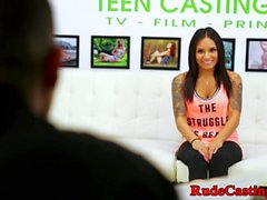 Bigtits teen banged at brutal casting