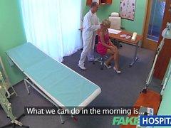 FakeHospital Slim blonde gets creampied
