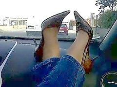 piedi nylon auto e musica