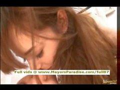 Rio innocente ragazza Cina ottiene la fica pelosa leccare