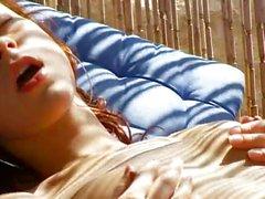 Russian beauty Natasha with pink dildo