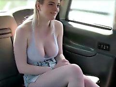 New cab driver bangs his sexy customer