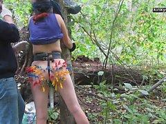 min slav X straffade i skogen