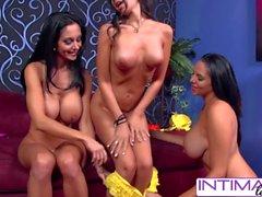 Spizoo - Ava Addams, Missy & Trinity dildo pounding action & pussy licking