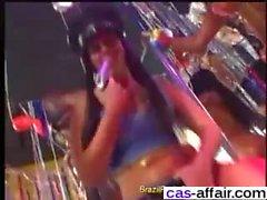 Brazilian hardcore anal samba party