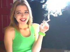 Alison smoking.