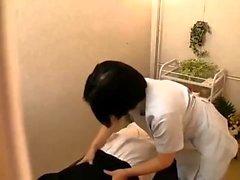 okul üniformalı Akané Yoshinaga Asya genç horoz sürmek
