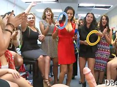 Whip cream spices up a hot striptease in the office