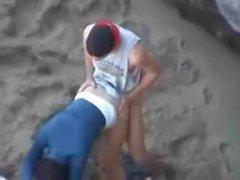 Couple has sx on a beach