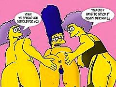 Simpsons frente a Futurama porno Hentai la parodia