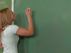 Schoolgirl receives dick