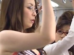 Great public sex scene with sweetheart fucking a passenger