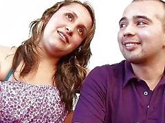 Colombian amateur couple in a sexual audition
