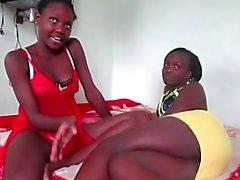 Lesbians africaine amateur de onze - de style Naija !