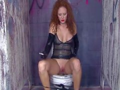 audrey hollander smoking latex pissing