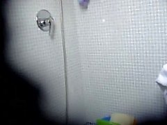 Attractive Italian girl in a shower